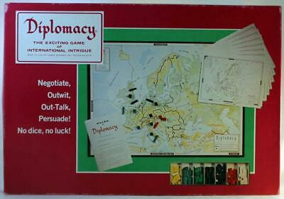 Games Research Boardgame Diplomacy (2nd Printing) Box Fair