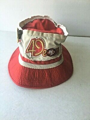 fd78b80c8564f Vintage 1980 s SF San Francisco 49ers Bucket Hat with Super Niners Button  pin