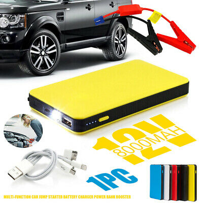 Portable Slim Mini 8000mAh Car Jump Starter Engine Battery Charger Power Bank