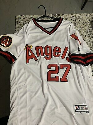 cheap for discount 7d334 6cdfa LOS ANGELES ANGELS of Anaheim Retro Throwback Jersey Mens ...