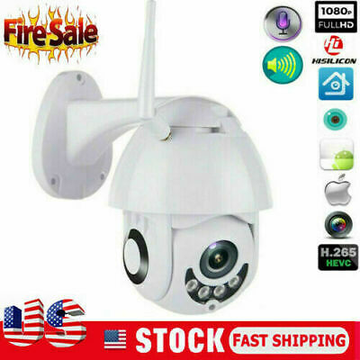 US 1080P WIFI IP Camera WHITE Wireless Outdoor CCTV HD Home Security IR Cam