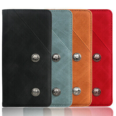 Luxury Retro Real Leather Case Flip Stand Silicone Cover Wallet For Huawei/Nokia