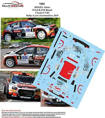 Decals 1//43 ref 1622 citroen ds3 r5 boulade rally lyon Charbonnieres 2018 rally