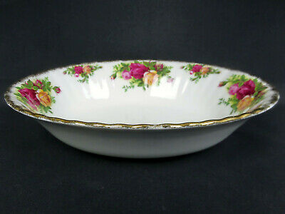 Old Country Roses Large Oval Serving Bowl, Gc, 1993-2002, England. Royal Albert