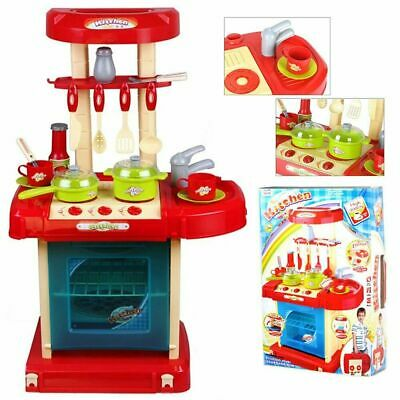 Portable Electronic Children Kids Kitchen Cooking Role Play Toy Cooker Sound Set