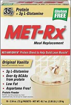 Met Rx Original Meal Replacement Vanilla 18 Count 2.54 Ounce Packets (Fl7)