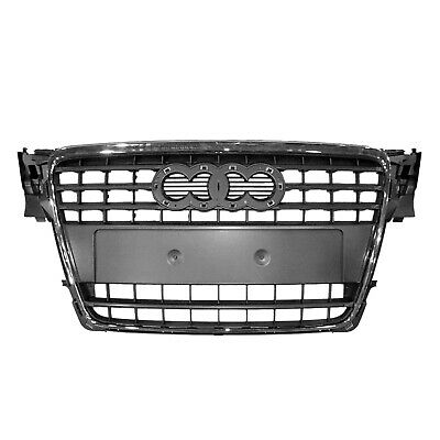 CPP Gray Grill Assembly for 2009-2014 Audi A4, A4 Quattro Grille