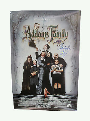 Christopher Lloyd Signed The Addams Family Vintage Movie Poster Auto