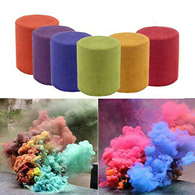 1/3/6pcs Smoke Cake Colorful Smoke Effect Show Round Bomb Stage Photography Aid