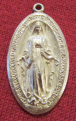 Vintage Catholic Religious Medal - STERLING - MIRACULOUS - OLDER / CLASSIC NICE