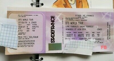 BTS 1 Ticket Paris Stade De France SPEAK YOURSELF TOUR Cat 2