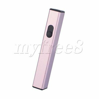 Mini Rechargeable USB Electronic Lighter No Gas Lighter D-812 Pink