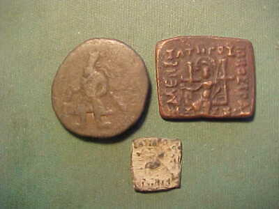 Ancient Bronze Coin Bactrian 100 Bc#br6351 Coins & Paper Money