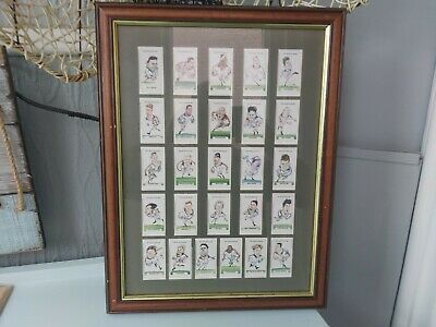 Old Daily Telegraph Newspaper England 1995 Rugby Squad Framed Cards