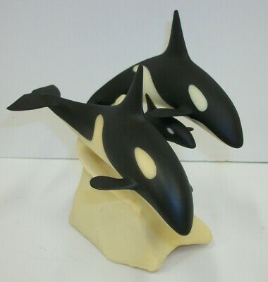 Orca Whales With Calf by Perry Figurine Sculpture