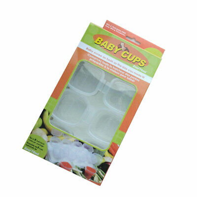 Baby Weaning Food Freezing Cubes Tray Pots Freezer Storage Containers