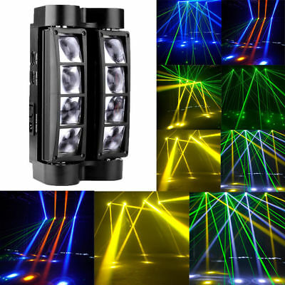 80W RGBW 8LED Spider Moving Head Stage Lighting Beam DMX Disco Party DJ Lights