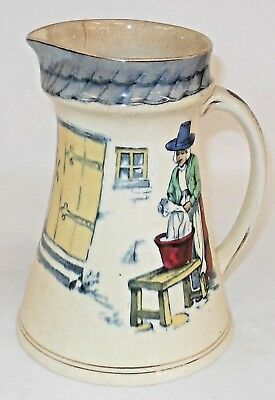 Antique England Porcelain Pitcher By Powell Bishop Stonier Oriental Ivory
