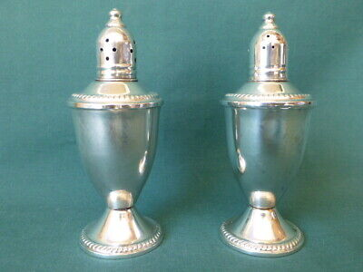 Duchin Creation Weighted Sterling Silver Salt and Pepper Shakers