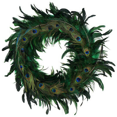 Zucker Feather - Wreath - Schlappen/Peacock Feather - Kelly & Natural