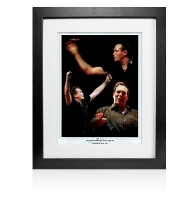 Framed Bobby George Signed Photo Darts Honours - Montage Autograph