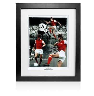 Framed Malcolm MacDonald Signed Photo - Arsenal Montage  Autograph