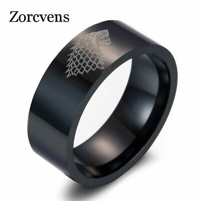 New Stainless Steel ring Game of Thrones ice wolf House Stark of Winterfell GOT