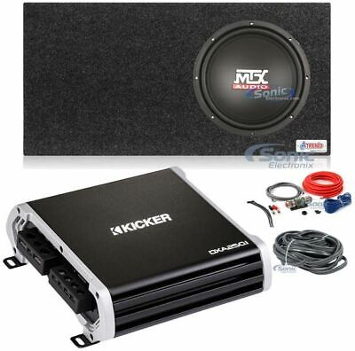 "MTX 400W Peak 200W RMS 12"" Terminator Series Single 2 ohm Subwoofer Package"
