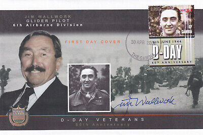 (28400) Gambia FDC D-DAY SIGNED 2004 NO INSERT