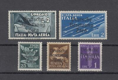 WWII German Occupation of Zara: airmail group,  cat.  EUR 260