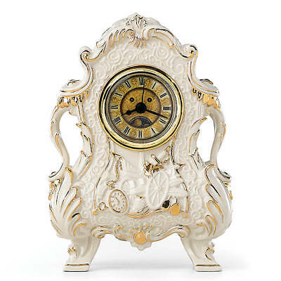 Lenox Disney Beauty and the Beast's Cogsworth Working Time Clock Figurine