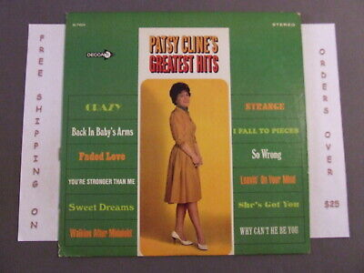 "Patsy Cline Greatest Hits Lp W/ ""Crazy"" ""Walking After Midnight"" Decca Dl 74854"