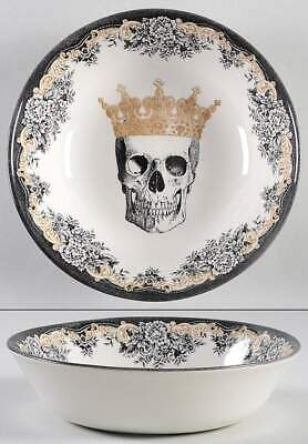 Victorian English Pottery SKULL Soup Cereal Bowl 11243465