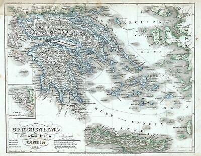 1854 Meyer Map of Greece and the Archipelago
