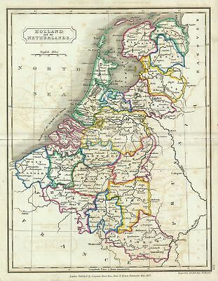 1822 Butler Map of Holland (Netherlands) and Belgium