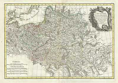 1778 Rizzi Zannoni Map of Poland and Lithuania