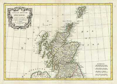 1771 Bonne Map of Scotland