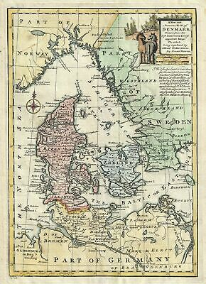 1747 Bowen Map of Denmark