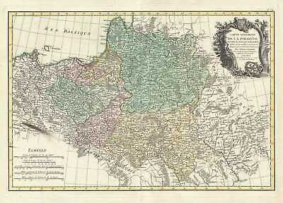 1762 Rizzi Zannoni Map of Poland and Lithuania