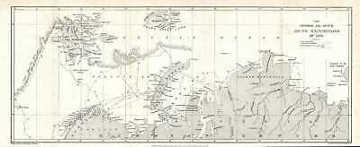 1879 Map of the Swedish and Dutch Arctic Expeditions