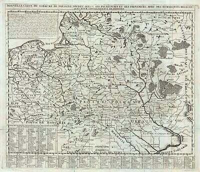 1710 Chatelain Map of the Kingdom of Poland (Polish-Lithuanian Commonwealth)