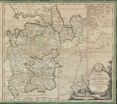 1790 Schlepper Map of the Environs of St. Petersburg, Russia