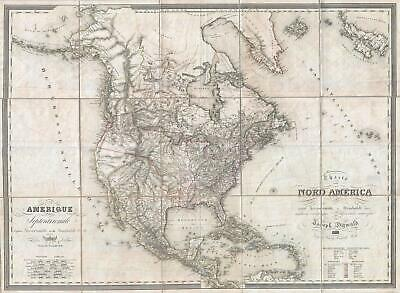 1823 Dirwald and Mollo Map of North America - with unusual Transmississippi