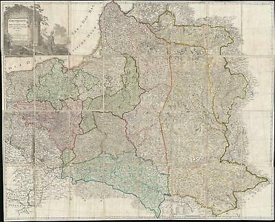 1796 D. F. Sotzmann Wall Map of the Partitioning of Poland