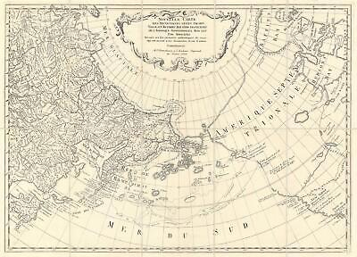 1773 Staehlin Speculative Map of the North Pacific