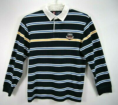 ce83254d75f CHAPS ** Mens Long Sleeve Blue Stripe Polo Rugby Dress XL - $13.49 ...