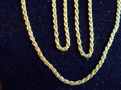 bling gold plated solid 30 inch long fashion rope chain hip hop necklace jewelry