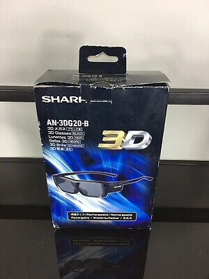 Sharp AN-3DG20-B Rechargeable Active Shutter 3D Glasses for Sharp AQUOS TVs