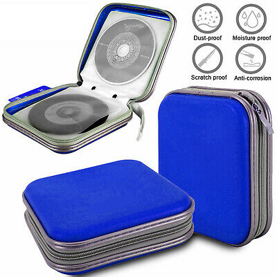40 Disc Double-side CD DVD Organizer Holder Storage Case Hard Wallet Album Blue