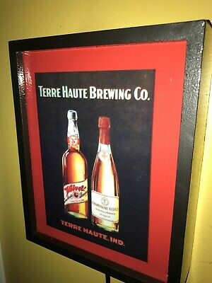 Terre Haute Brewing CO. Indiana Beer Bar Man Cave Lighted Advertising Sign